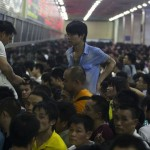 How Some Travelers Spent Their Sunday Night At Guangzhou Train Station