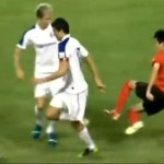 Horrible tackle in Chinese soccer 1