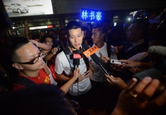Jeremy Lin in Beijing for basketball camp