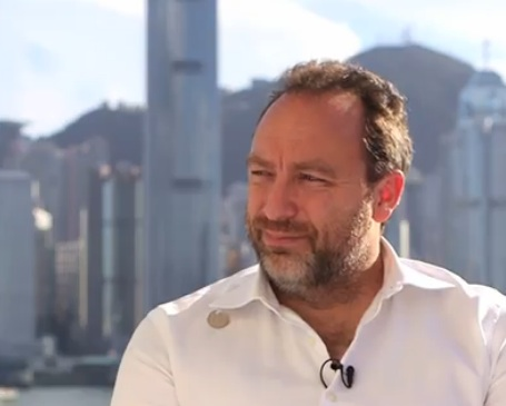 Jimmy Wales in Hong Kong for Wikimania