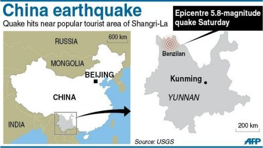 Shangri-la earthquake in Yunnan