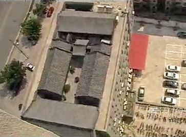 Shijiazhuang courtyard on a roof