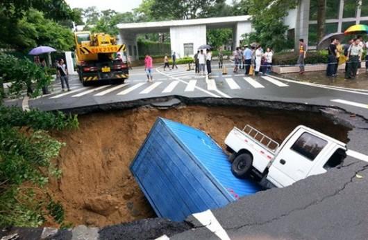 Sinkhole again in Shenzhen