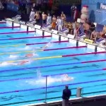 Sun Yang's ridiculous split in FINA freestyle relay