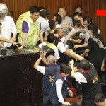 Watch Lawmakers In Taiwan Brawl In Parliament Over Nuclear Power Plant