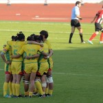 Beijing rugby players throw match