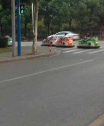 Bumper cars in Shanghai 2