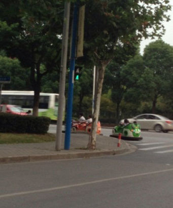 Bumper cars in Shanghai