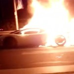 Lamborghini Burns On Fourth Ring Road In Beijing