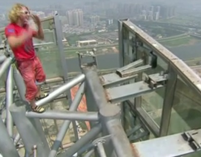Michael Kemeter jumps off Changsha's highest building 1