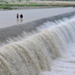 Pengzhou wading and fording through river 5