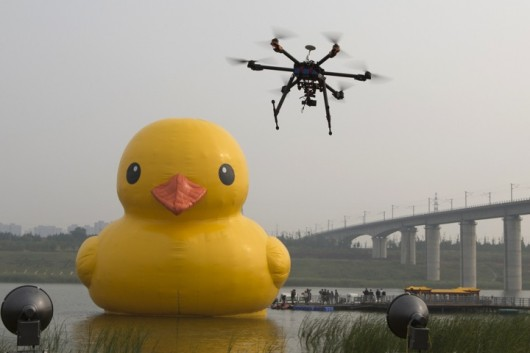 Rubber duck looks sad in Beijing 3