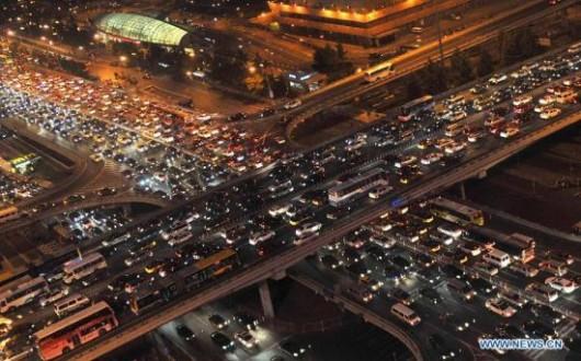Traffic on World Car Free Day 4
