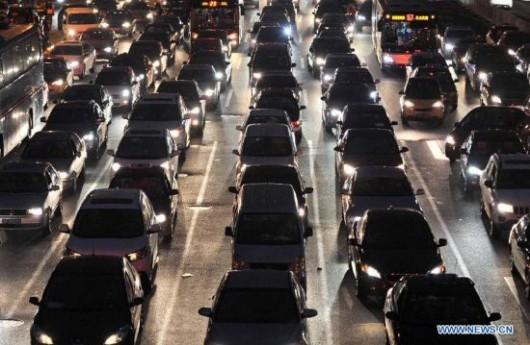 Traffic on World Car Free Day 5