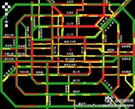 Traffic on World Car Free Day