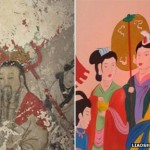 Ancient frescos painted over