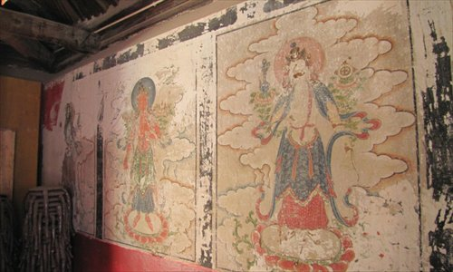 Ancient frescos painted over 3