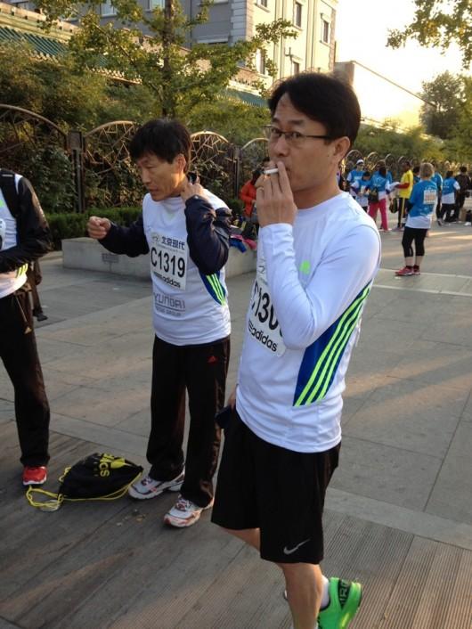 Beijing Marathon smoker 2