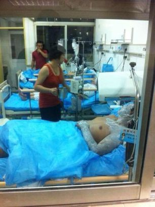 Chengguan attacked with sulfuric acid