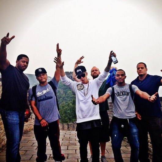 Justin Bieber at the Great Wall