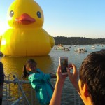 A Giant Rubber Duck In Beijing