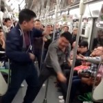Watch This Glorious Fight On The Shanghai Subway