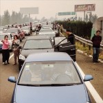 Traffic jam in south Beijing