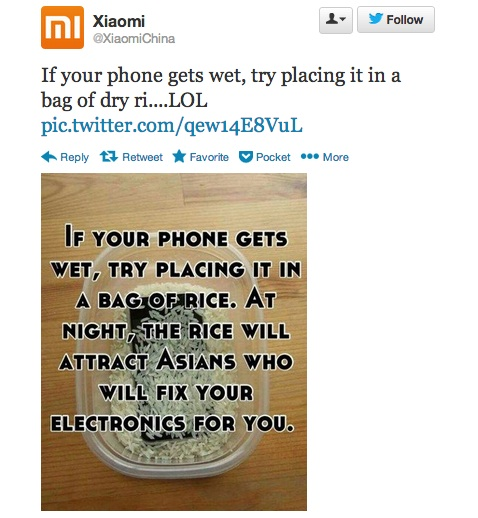 Xiaomi rice joke