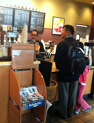 Gary Locke buying his own coffee at Starbucks