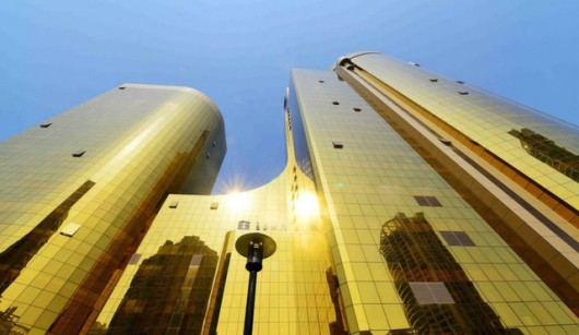 Gold building in Xiamen