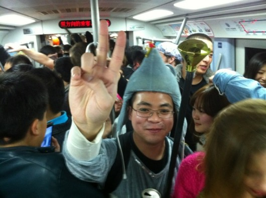 Halloween subway party 1