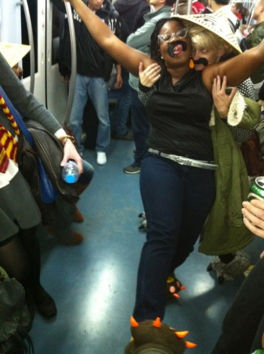 Halloween subway party 6