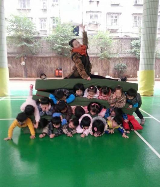 Kindergartener pyramid