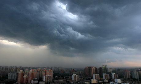 Beijing cloudy skies