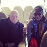 Dennis Rodman and Simon Cockerell