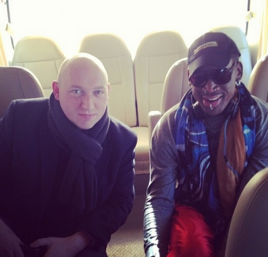 Dennis Rodman and Simon Cockerell