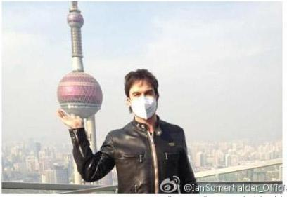 Ian Somerhalder in Shanghai