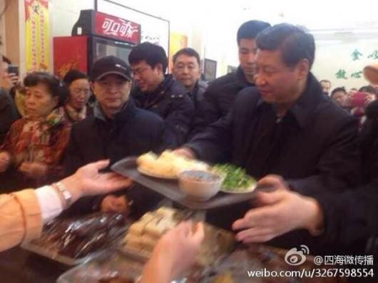 Xi Jinping at baozi shop