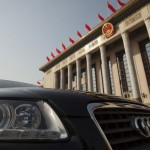Audi in front of Tiananmen