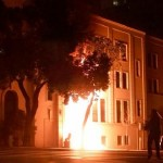 Chinese consulate in USA on fire