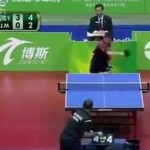 Maybe The Funniest Thing You'll Ever See In Competitive Ping-Pong