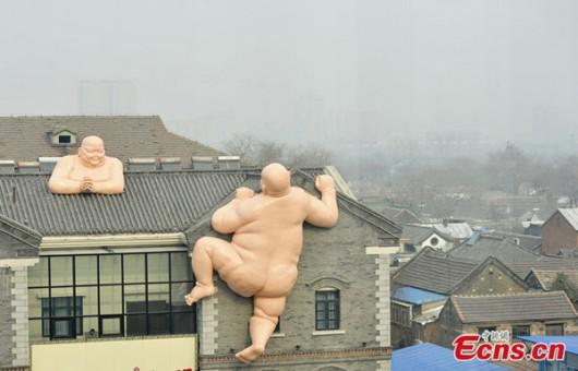 Naked Buddhas in Jinan
