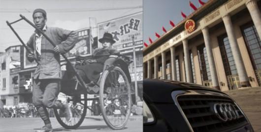 Rickshaw and Audi