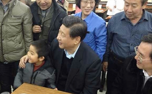 Xi Jinping and child