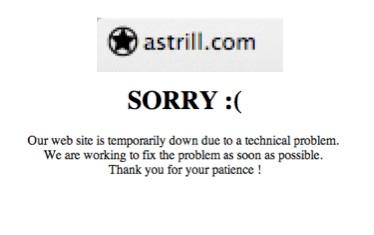 Astrill down
