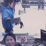 Shanghai Bank Teller Laughs At Cleaver-Wielding Robber
