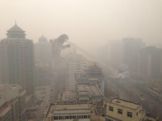 Godzilla in Beijing smog
