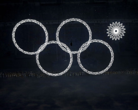Sochi rings malfunction