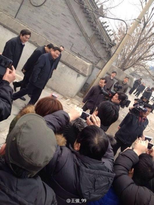 Xi Jinping at Nanluoguxiang