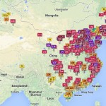 Air Pollution in Asia Real Time Map